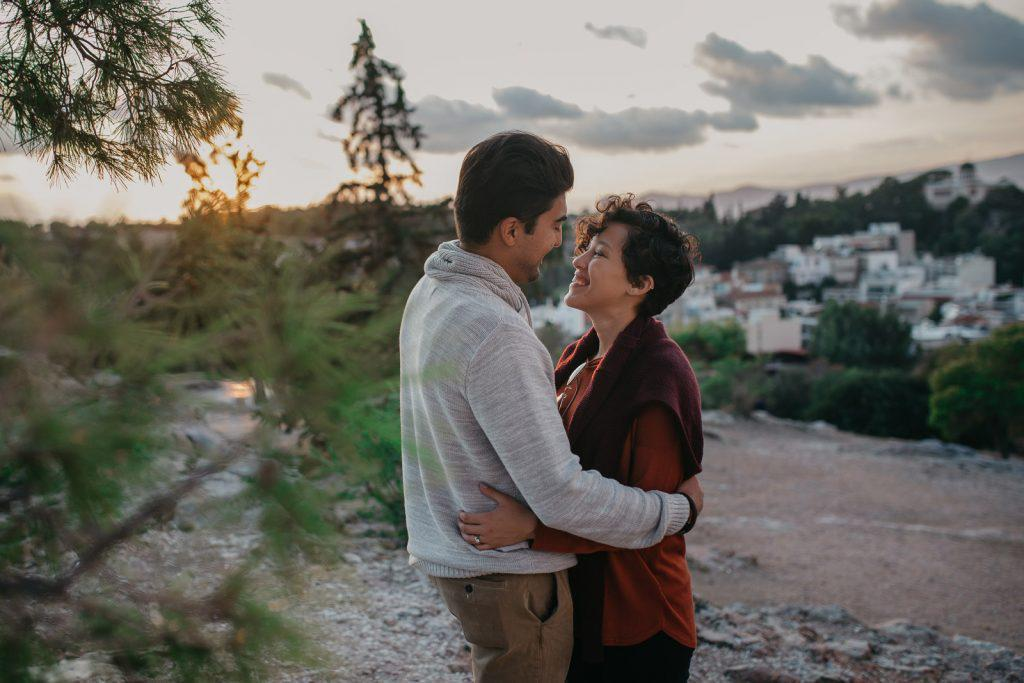 Honeymoon photo session in Athens | Athens wedding photographer