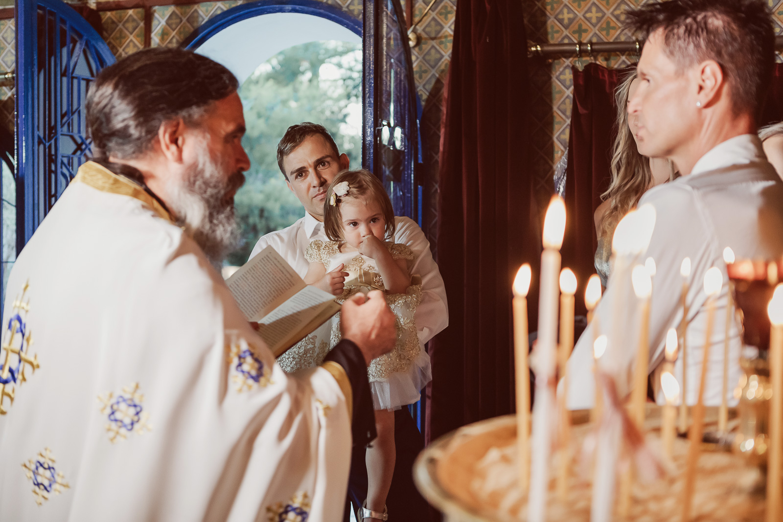 Baptism in St.George Chapel in Kavouri