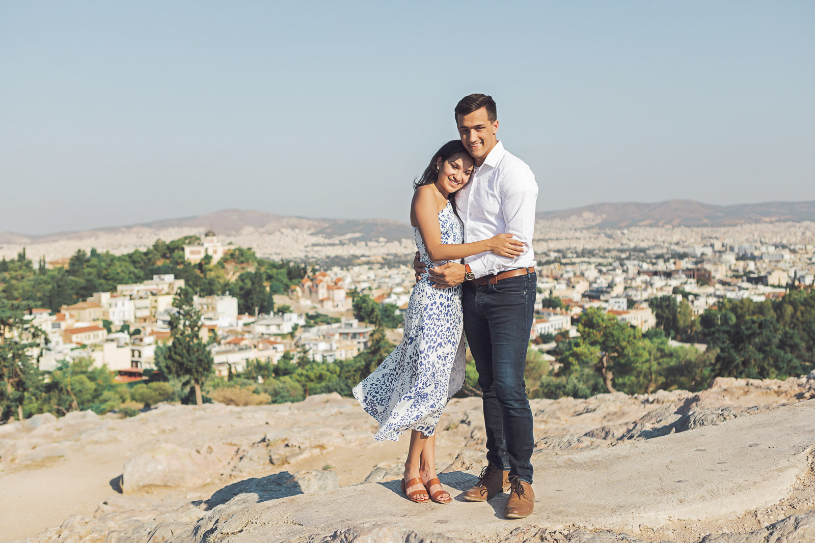 Engagement photo session in Athens